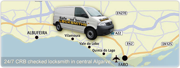 24/7 CRB checked locksmith in Central Algarve